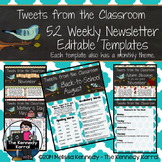 52 Weekly Editable Newsletter Templates {Birds}