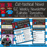 52 Weekly Editable Newsletter Templates {Cat-tastical}