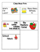 Newsletter:  First Grade Week at a Glance EDITABLE