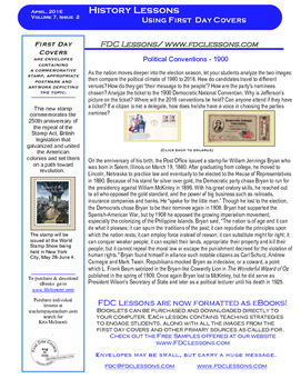 Newsletter - Political Convention of 1900