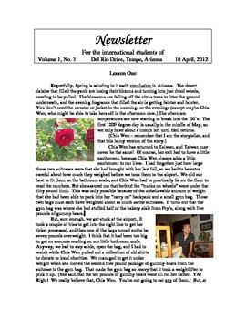 """Newsletter """"Spring"""" 1 of 4"""