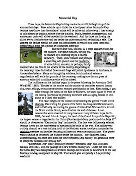 """Newsletter """"Spring"""" Memorial Day"""