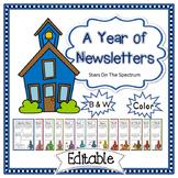 Editable Newsletter Template Schoolhouse