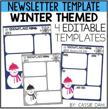Winter Classroom Newsletter