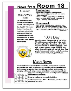 Newsletter Template - EDITABLE - Pink Theme