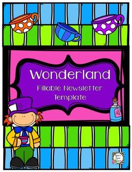 Newsletter Template (Fillable) - Wonderland