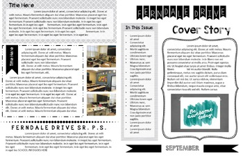 Newsletter Template For Students and Teachers - Fully Edit