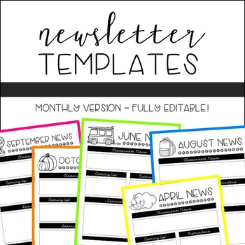 Newsletter Templates {EDITABLE!}