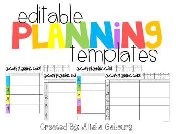Monthly Planning Templates [Editable]