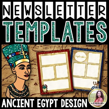 Newsletter Templates {Egyptian Glam Editable Monthly Templates}