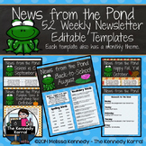 52 Weekly Editable Newsletter Templates {Frogs}