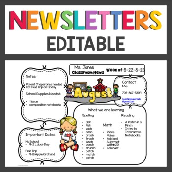 Newsletter Templates with Editable sections