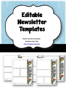 Newsletter Templates - Porcupine Pleasures Themed