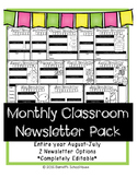 Newsletter for Classroom Parent Newsletter Monthly