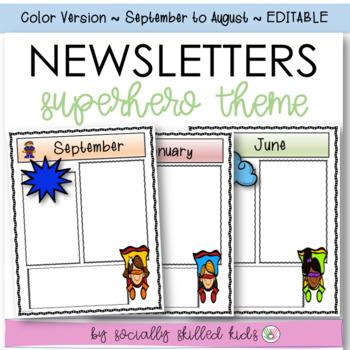 Newsletters: Superhero Theme