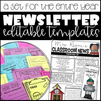 Newsletter & Monthly Brochure Templates, and Reminder Notes