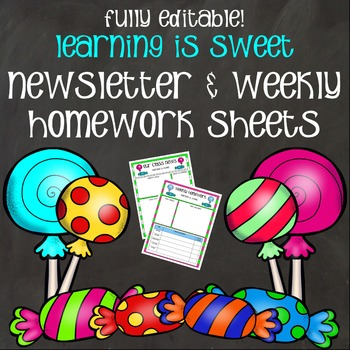 Newsletters and Weekly Homework Sheets - Learning is Sweet