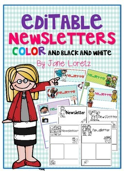 Newsletters (editable in color and in black and white)