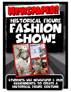 Newspaper Historical Figure Fashion Show Fun Review Activity