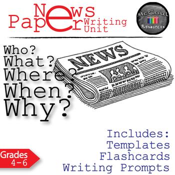 Newspaper Journalistic Writing Lesson Bundle