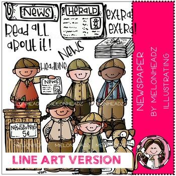 Newspaper by Melonheadz LINE ART