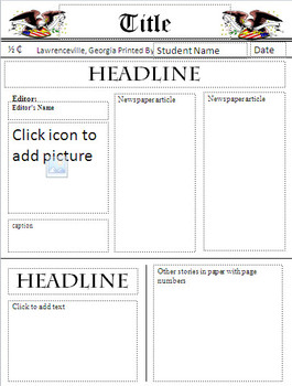 Newspaper Template Freebie