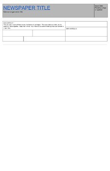 Newspaper Template - Google Doc