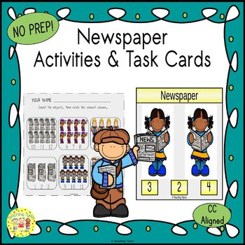 Newspaper Worksheets Activities Games Printables and More