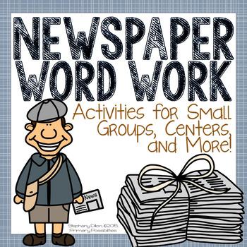 Newspaper Word Work Activities