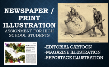 Newspaper and Magazine Illustration Project