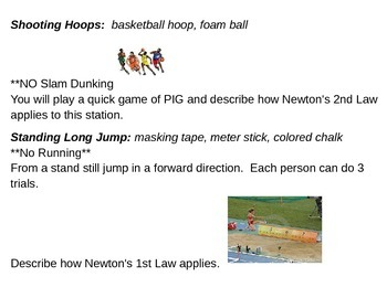 Newton Olympics Station Cards