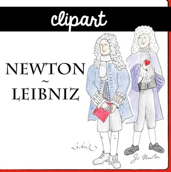 Newton and Liebniz CLIPart