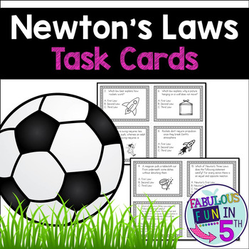 Newton's 3 Laws of Motion Task Cards