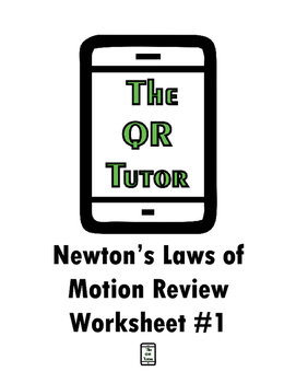 Newton's Laws of Motion Review QR Code Worksheet