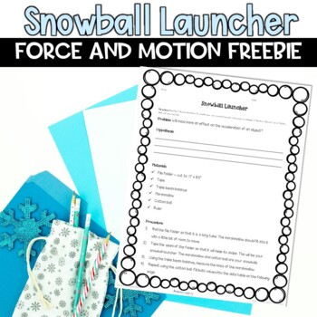 Newton's Second Law of Motion Winter Activity by Samson's Shoppe