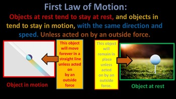 Newton's Three Laws of Motion (Animated  and includes video clip)