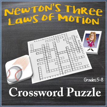 Newton's Three Laws of Motion Crossword Puzzle