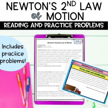 Newton's Second Law of Motion Nonfiction Article and Activity