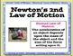 Newton's Laws of Motion Posters and Task Cards