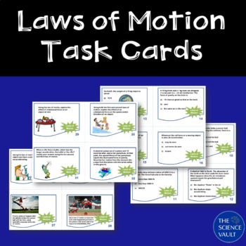 Newtons Laws of Motion Task Cards