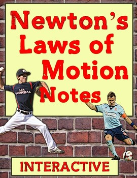 Newtons Laws of Motion interactive NOTES with demonstratio