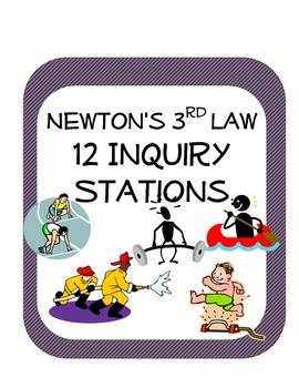 Newton's Third Law Station Science Inquiry Activities (12