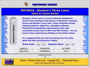 Physics - Newton's Three Laws Unit - Click and Teach Bundle