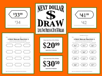 Next Dollar (Dollar Up) Draw: Level 2 (Prices of 20 to 50