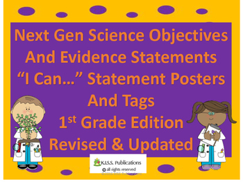 """Next Gen Sci """"I Can..""""Posters & Tags for 1st Grade"""