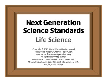 Next Generation Science Standards For High School Life Science 2