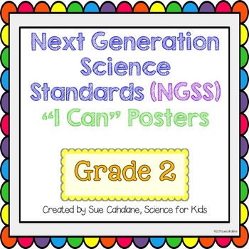"Next Generation Science Standards (NGSS) ""I Can"" posters f"