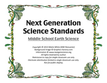 Next Generation Science Standards for Middle School Earth