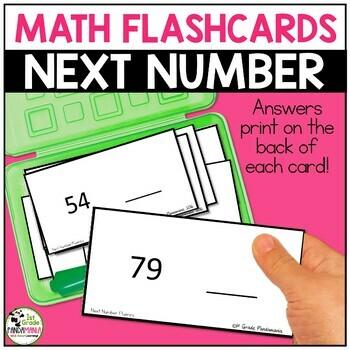 Next Number Fluency Flash Cards
