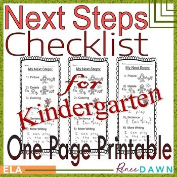 Next Steps Checklist for Kindergarten